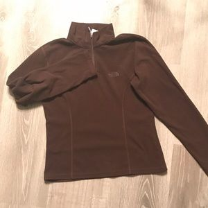 Brown North Face sweater